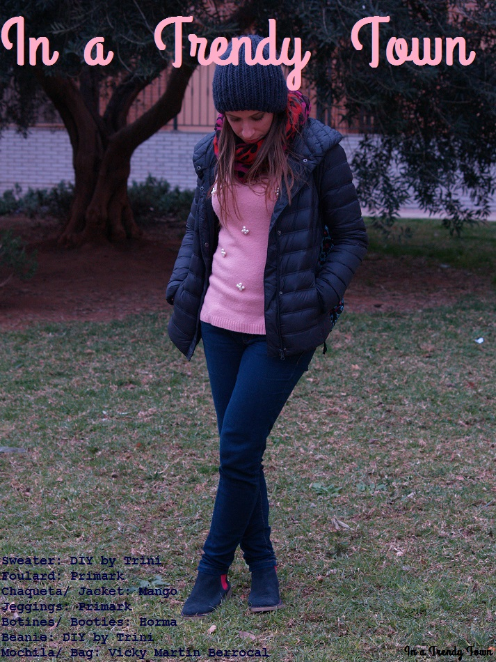 Outfit: Blue and pinks