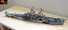 Battleship Missouri - Above view