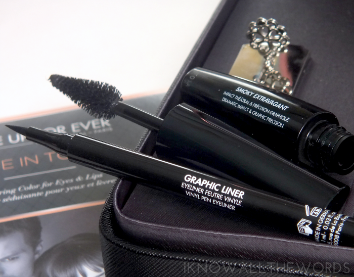 make up for ever give in to me fifty shades of grey graphic liner and smoky extravagant mascara