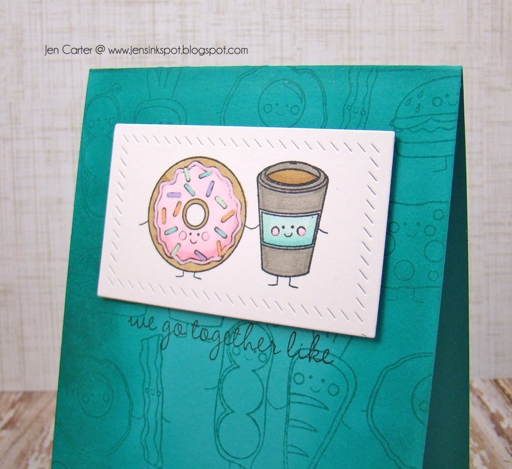 Jen Carter LID We Get Together Teal 31 Closeup