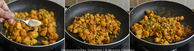 How to make aloo matar - Step4