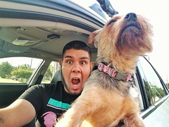 Me and my pup! Lulu sometimes I call her lubacca