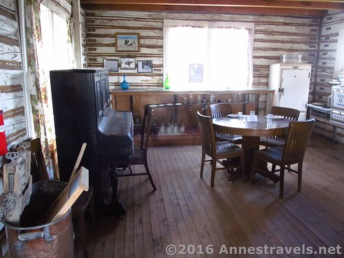 One of the more sparsely furnished rooms - some of the other rooms are so full of antiques and memorabilia it's hard to move! Medicine Bow Museum, Wyoming