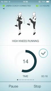 พอใช้งานในโหมด Workout ก็จะมีเสียงโค้ชคอยบอกว่าต้องทำอะไรบ้าง