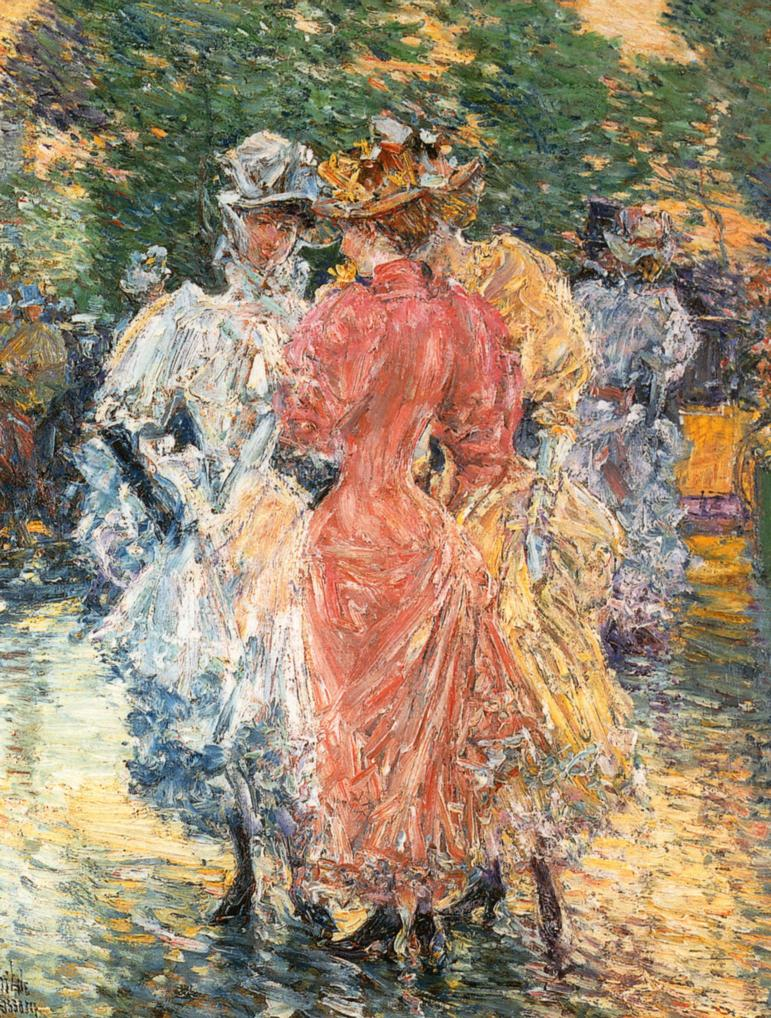 Conversation on the Avenue by Frederick Childe Hassam - circa 1892