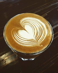 NEW ESPRESSO! Dancing Dinosaurs - Orange. Plum. Grape. Berry. Super delicious. Come and try it today! #espresso #latteart #caffedbolla #slc #coffee #roaster #coffeeroaster #cortado