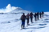 Italien Sizilien, Skitour auf den Vulkan Ätna. Foto: Dr. Thomas Hochholzer.