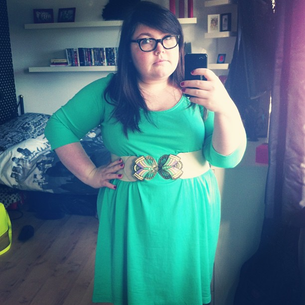 Today's dress. See, I don't just wear outfits on the blog once ;) #ootd #fatshion #plussize