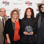 WFUV's Chuck Singleton and Rita Houston with Rosanne Cash and Don Was, at Edison Ballroom in New York City, May 9, 2013. Photo by Chris Taggart