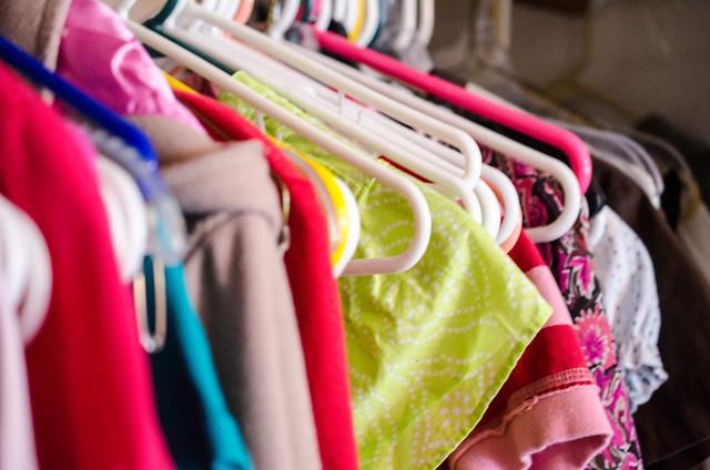 Closet of clothing at my old condo