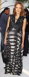 Jessica Alba Leather Vest Celebrity Style Women's Fashion