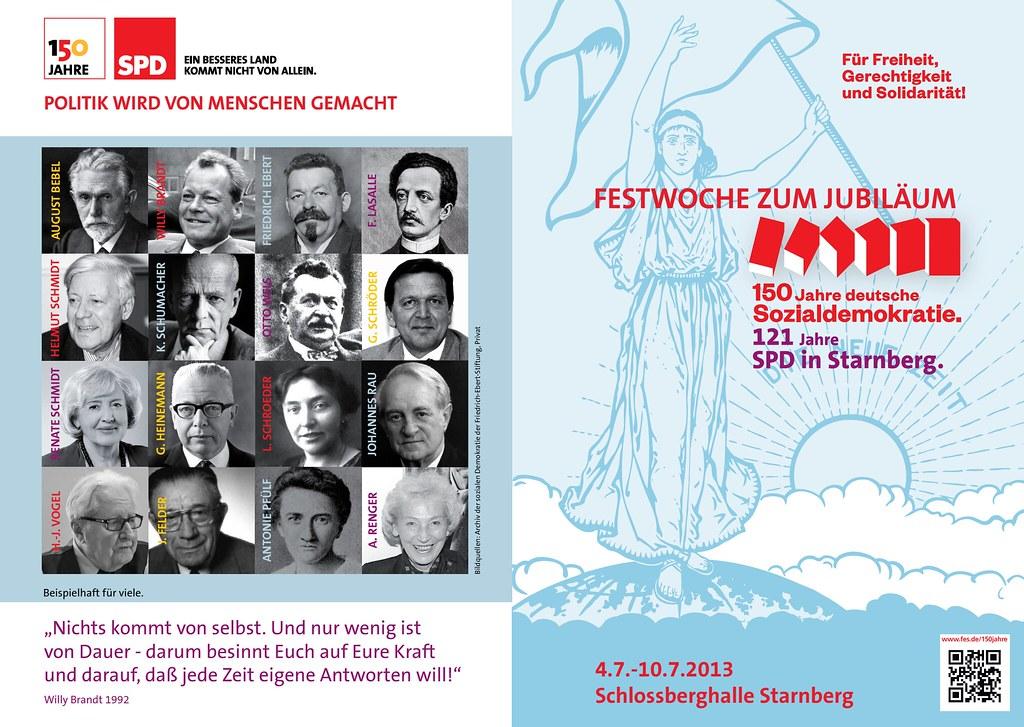 150 Jahre deutsche Sozialdemokratie in der Starnberger Schlossberhalle - Seite 1