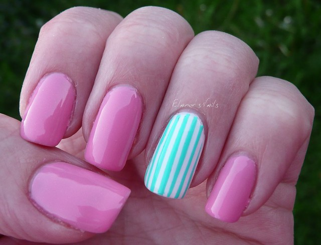 green striped nail 2