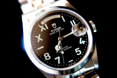 TUDOR PRINCE DATE-DAY 76200 Roman/Arabic dial 2003