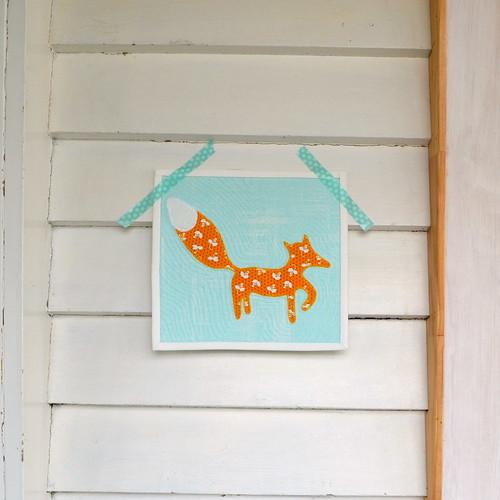 Foxy mini quilt