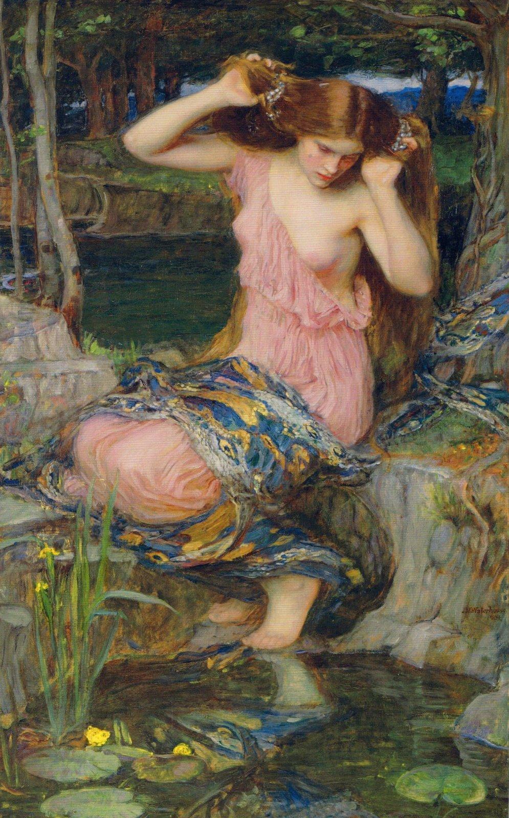 Lamia. Obra de John William Waterhouse, 1909