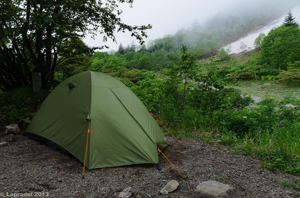 20130629 白根御池小屋のテントサイト