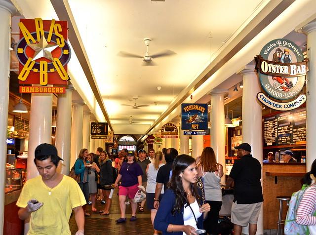 inside quincy market in boston