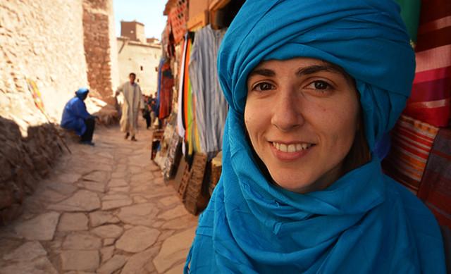 Turbante azul en Marruecos!