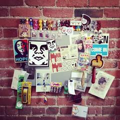 my pin board at work