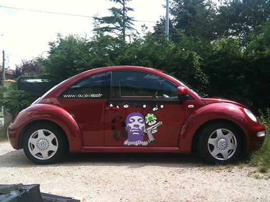 Création des stickers pour la décoration d'une voiture New Beattle.