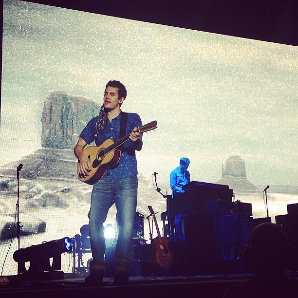 The man himself: John Mayer! I still can't get over how close we were! We basically had front row seats!