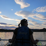 Audrey Canoes at Sunset Along Orange River - Northern Cape, South Africa
