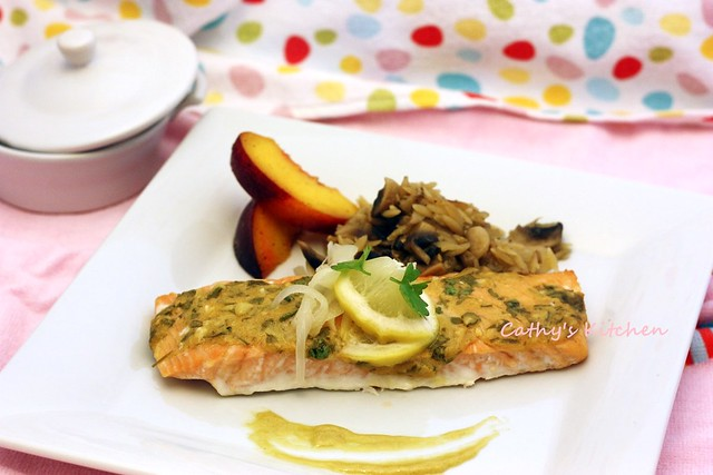 檬香芥末烤鮭魚 Baked Salmon with Lemon and Mustard  1