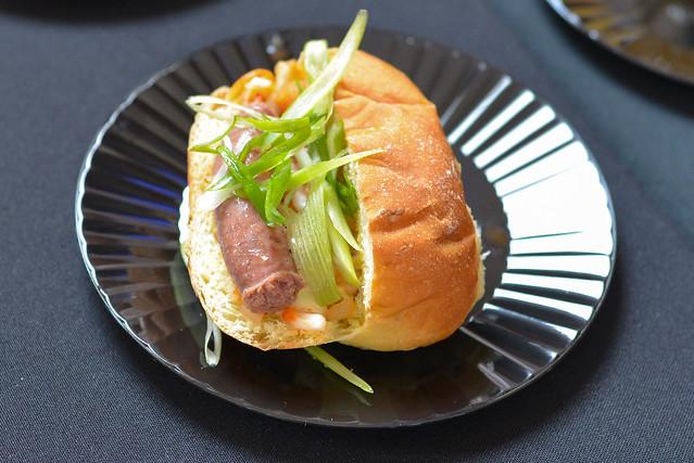 Charlie Palmer at Bloomingdale's bulgogi sausage rolls