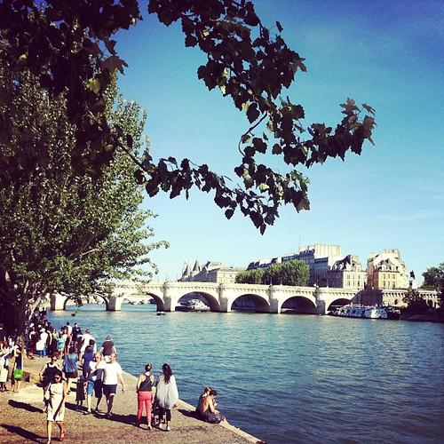 Promenad längs Seine.