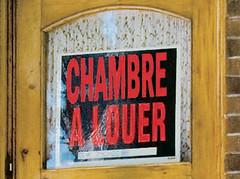 Cartel de Chambre a louer (se alquila habitación) en Marciac