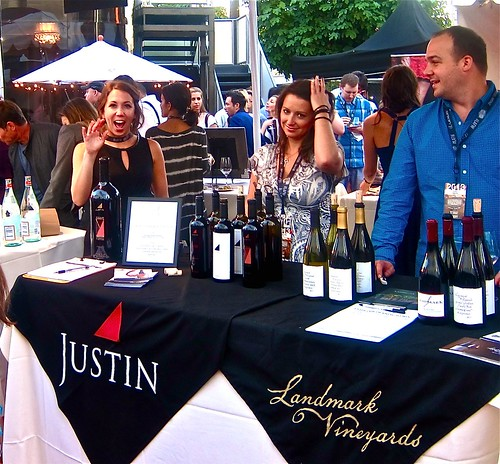 justin and landmark was my wine of choice