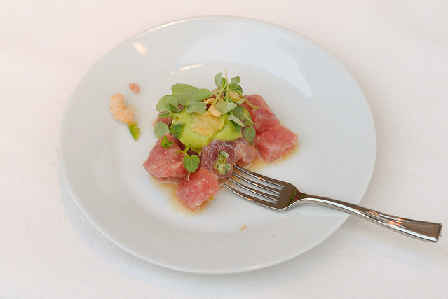 Curtis Stone tuna ceviche, chili, pepper, lime, soy
