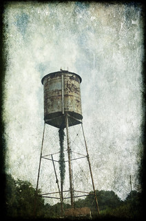 Parker Town Water Tower with Texture