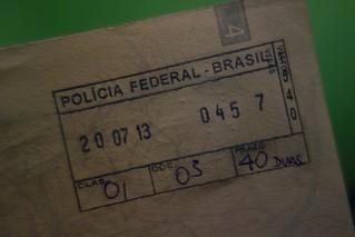 Carimbo de entrada no Brasil