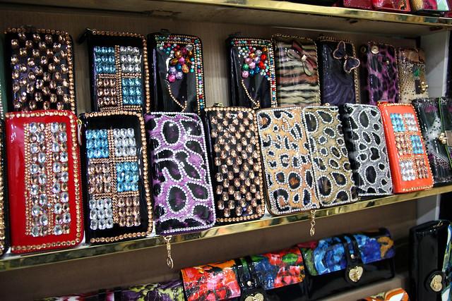 Gorgeously decorated wallets, Urumqi ウルムチ、ゴージャスなデコ財布たち