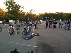 Transition area as people came in.