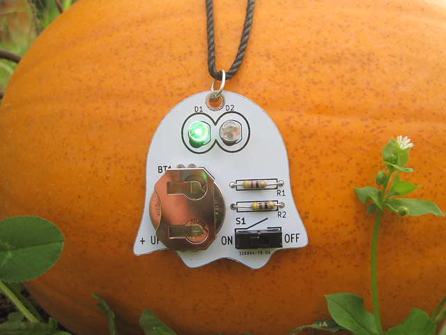 Ghost PCB on a pumpkin