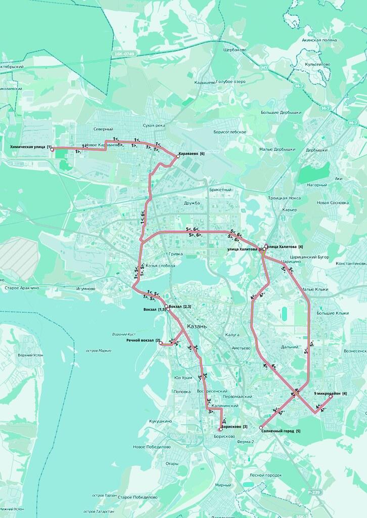 kazan tram map 2013
