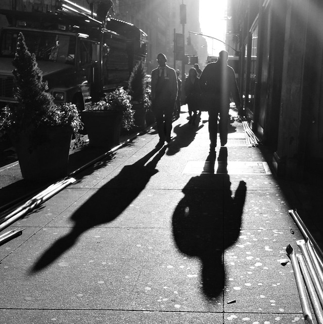 Long shadows #walkingtoworktoday
