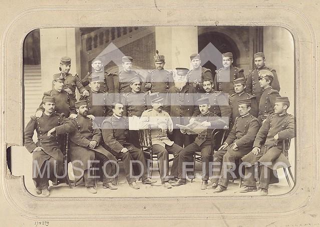 Retrato de alumnos de la Academia de Infantería de Toledo a comienzos del siglo XX © Museo del Ejército, Ministerio de Defensa