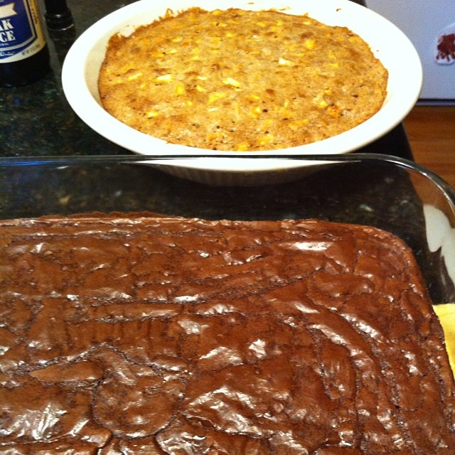 I'm a baking fool. #brownies two ways