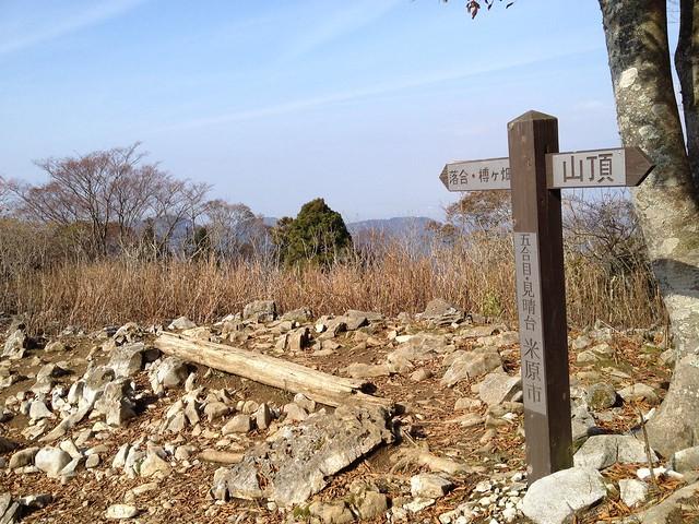 霊仙山 榑ヶ畑コース 5合目 見晴台