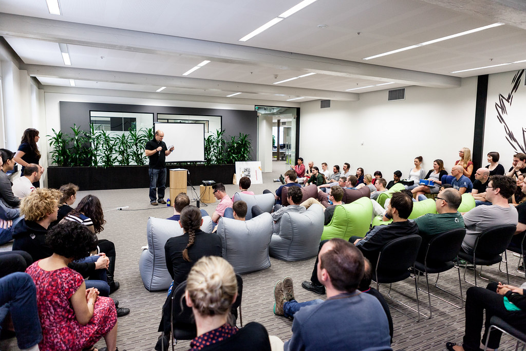 10:04am - Collis speaking at the Envato fortnightly All Hands meeting | A Day in the Life of the CEO