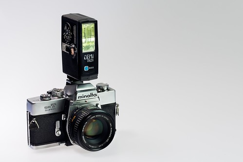 Flash, Minolta SR-T Super With Demi Tron 200 by flatworldsedge
