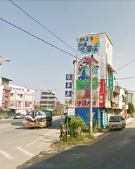 苗栗大埔徵收案拆除前的張藥房,圖片來源:Google地圖