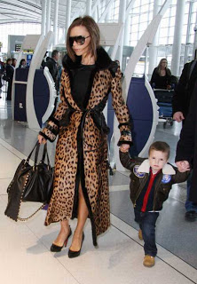 Victoria Beckham Leopard Print Coat Celebrity Style Women's Fashion