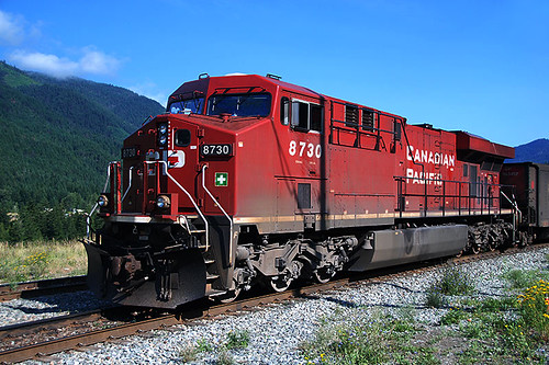 Canadian Pacific Railway Train at Boston Bar, Fraser Canyon, British Columbia