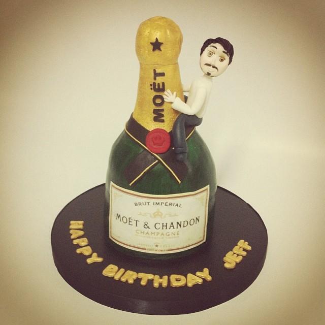 Moet şampanya şişesi Pasta Moet Cake Ozelpastam öze Flickr