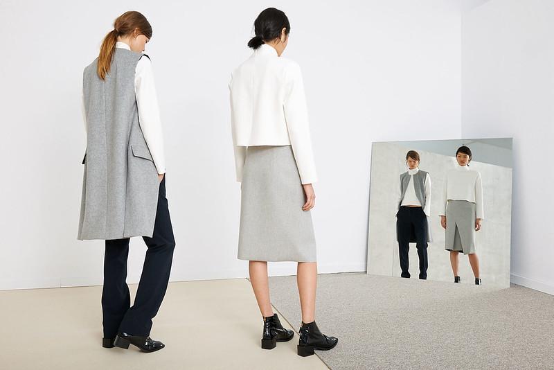 falda abrigo gris zara